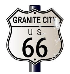 Granite city route 66 sign vector
