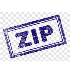 Grunge zip rectangle stamp vector