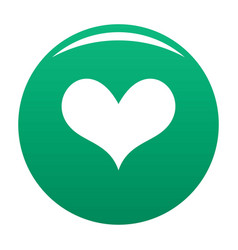 Gustatory heart icon green vector