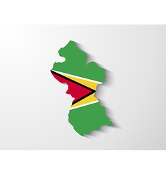 guyana country map with shadow effect presentation vector image