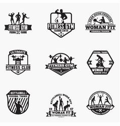 Gym logo badge vector