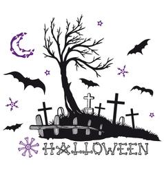 halloween cemetery vector image