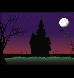 halloween haunted house background vector image