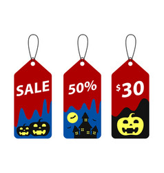Halloween tags isolate vector