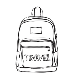 Hand drawn backpack vector