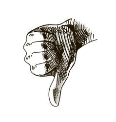 Hand drawn dislike vector