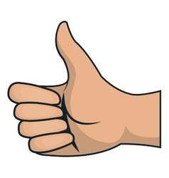 hand human like isolated icon vector image