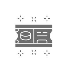 Ice hockey ticket gray icon isolated on white vector
