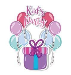 Kids party cartoon vector