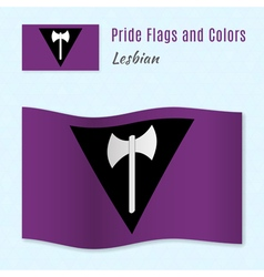 Lesbian pride flag with correct color scheme vector image