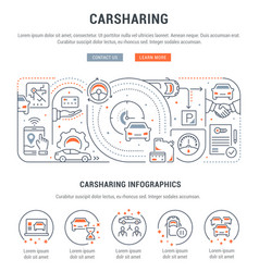 linear banner carsharing vector image
