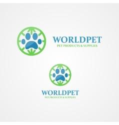 logo footprint an animal vector image