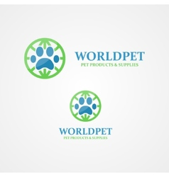 logo footprint of an animal vector image