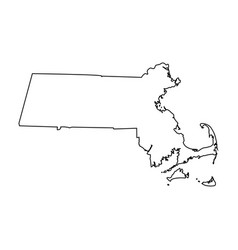 Massachusetts ma state border usa map outline vector