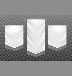medieval textile banners vector image