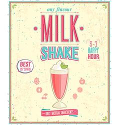 Milk Shake Poster vector