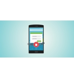 mobile authentication vector image