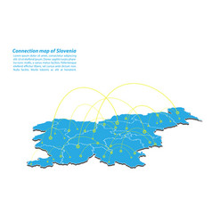 Modern of slovenia map connections network design vector