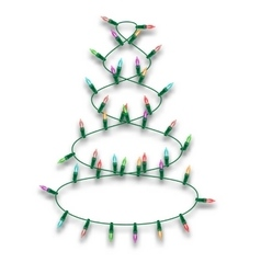 Multicolored Christmas Lights garland in the form vector