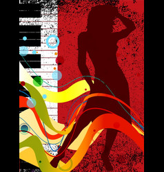 Musical dance background vector