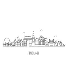 new delhi skyline vector image