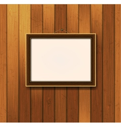 picture frame on old wooden wall vector image