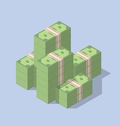 Pile cash isometric vector