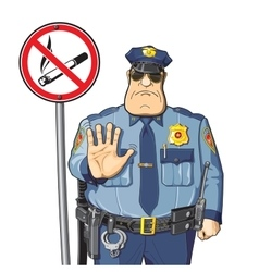 Police bans smoking vector image
