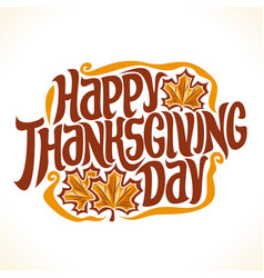 Poster for thanksgiving vector