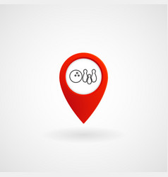red location icon for bowling eps file vector image