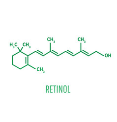 retinol vitamin a essential for vision and bone vector image
