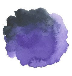 round watercolor stains on white background vector image