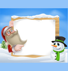 santa christmas winter scene vector image
