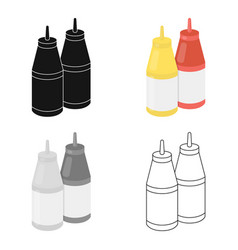 Sauce icon in cartoon style for web vector
