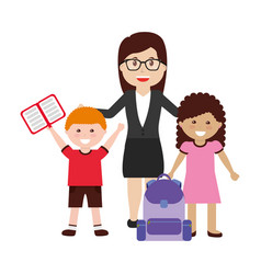 school teacher class vector image