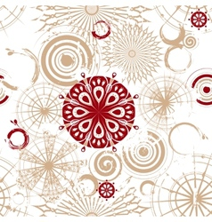 seamless background with beige circles vector image