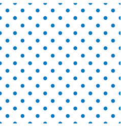 Seamless pattern with tile blue polka dots vector