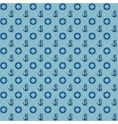 Seamless patterns navy anchors and lifebuoy vector image