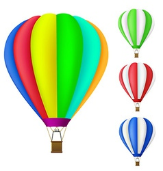Set colorful hot air balloon vector
