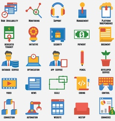 Set of business and development icons vector