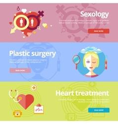 Set of flat design concepts for sexology plastic vector image