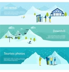 Ski Resort Banner Set vector