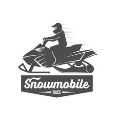 Snowmobile dadges logo badge emblem vector