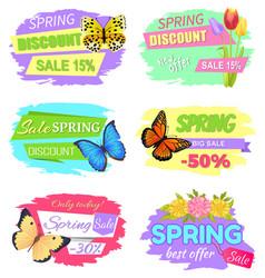 Spring discount sale 15 new offer super price set vector
