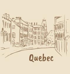 st jean street in quebec vector image