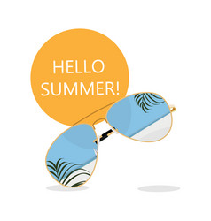 summer time banner background design vector image