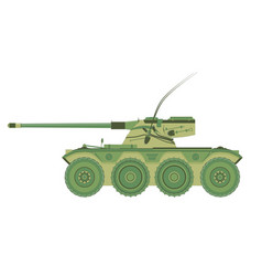 tank military war icon isolated flat armor battle vector image