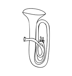 tuba instrument icon image vector image