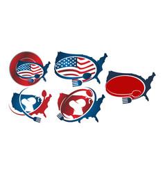 united states restaurant set vector image