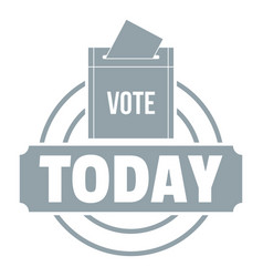 Vote today logo simple gray style vector